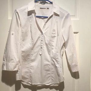 New York and Company White Dress Shirt